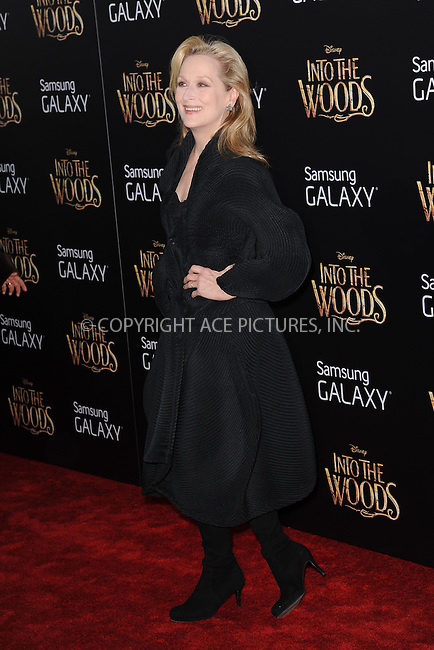 WWW.ACEPIXS.COM<br /> December 8, 2014 New York City<br /> <br /> Meryl Streep attending the World Premiere of 'Into the Woods' at the Ziegfeld Theatre on December 8, 2014 in New York City.<br /> <br /> Please byline: Kristin Callahan/AcePictures<br /> <br /> Tel: (212) 243 8787 or (646) 769 0430<br /> e-mail: info@acepixs.com<br /> web: http://www.acepixs.com