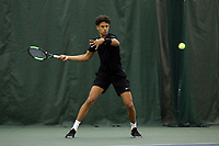 WINSTON-SALEM, NC - JANUARY 24: Gabriel Diallo of the University of Kentucky during a game between Kentucky and Penn State at Wake Forest Indoor Tennis Center on January 24, 2020 in Winston-Salem, North Carolina.