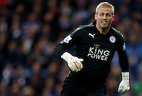 Kasper Schmeichel of Leicester City during the Barclays Premier League match between Leicester City and Swansea City played at The King Power Stadium, Leicester on April 24th 2016