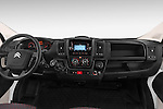 Stock photo of straight dashboard view of a 2015 Citroen Jumper L1H1 Club 3 Door Cargo Van Dashboard