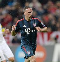 FUSSBALL   CHAMPIONS LEAGUE   SAISON 2013/2014   Vorrunde FC Bayern Muenchen - FC Viktoria Pilsen       23.10.2013 JUBEL FC Bayern Muenchen; Torschuetze zum 1-0 Franck Ribery
