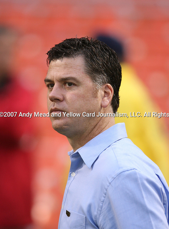 14 April 2007: Kansas City's assistant coach Kris Kelderman.  DC United lost 4-2 to the Kansas City Wizards at RFK Stadium in Washington, DC in their Major League Soccer 2007 regular season home opener.