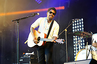 LONDON, ENGLAND - JUNE 30: Curtis Harding performing at Finsbury Park on June 30, 2018 in London, England.<br /> CAP/MAR<br /> &copy;MAR/Capital Pictures