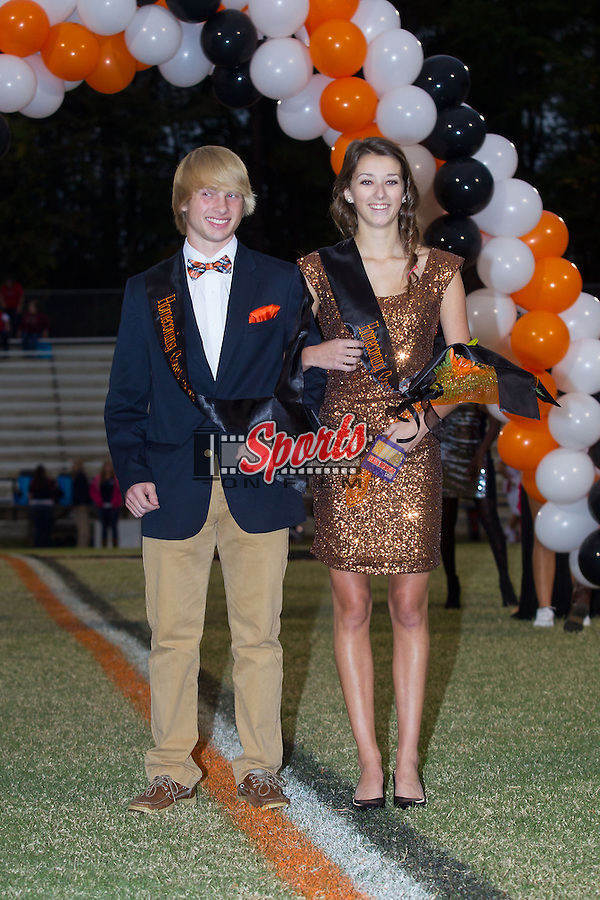 Northwest Cabarrus High School celebrated Homecoming prior to the game against the East Rowan Mustangs at Trojan Stadium October 11, 2013, in Concord, North Carolina.  The Mustangs defeated the Trojans 42-14.  (Brian Westerholt/Sports On Film)