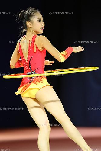 Kaho Yamamoto,<br /> OCTOBER 2, 2015 - Rhythmic Gymnastics : <br /> AEON CUP 2015 Worldwide R.G. Club Championships <br /> at Tokyo Metropolitan Gymnasium, Tokyo, Japan. <br /> (Photo by Shingo Ito/AFLO SPORT)