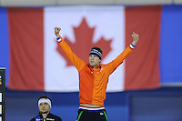 SPEED SKATING: CALGARY: Olympic Oval, 08-03-2015, ISU World Championships Allround, Fianl Podium Men, World Champion Sven Kramer (NED), ©foto Martin de Jong