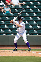 Adam Engel (7) of the Winston-Salem Dash at bat against the Carolina Mudcats at BB&T Ballpark on April 22, 2015 in Winston-Salem, North Carolina.  The Dash defeated the Mudcats 4-2..  (Brian Westerholt/Four Seam Images)