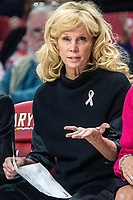 COLLEGE PARK, MD - FEBRUARY 03: Suzy Merchant head coach of Michigan State on the bench during a game between Michigan State and Maryland at Xfinity Center on February 03, 2020 in College Park, Maryland.