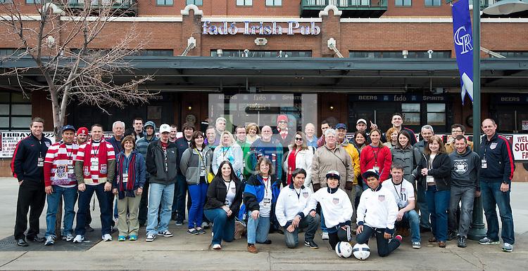 DENVER, CO - MARCH, 22, 2013 - USMNT Chalk Talk at Fado's Pub, downtown Denver, CO.