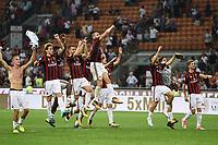 esultanza a fine gara Milan end of match celebration<br /> Milano 27-08-2017 Stadio Giuseppe Meazza in San Siro Calcio Serie A<br /> 2017/2018 Milan - Cagliari Foto Imagesport/Insidefoto