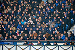 01.12.2019 Rangers v Hearts: Rangers players watching from the stand