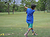 Deven Rampersaud, 13, of North Woodmere practices his golf swing at the driving range of Lawrence Yacht and Country Club on Tuesday, June 7, 2016.
