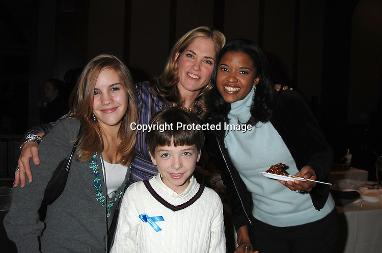 "Kristen Alderson, JQ and Kassie DePaiva and Renee Goldsberry ..at The League For The Hard of Hearing's ""Feast With Famous Faces"" Gala on October 23, 2006 at Pier Sixty. ..Kassie and James DePaiva were the co-chairs. ..Robin Platzer, Twin Images"