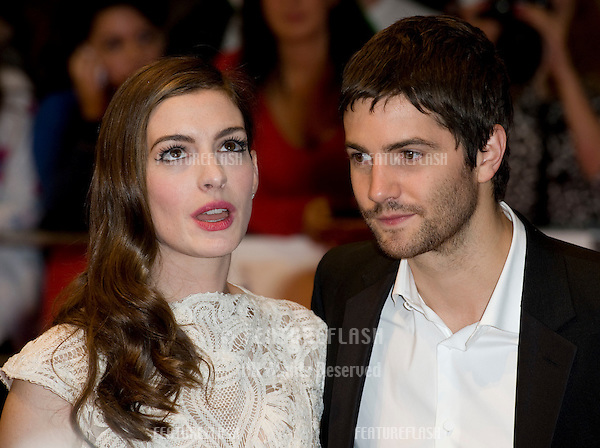 Anne Hathaway and Jim Sturgess arriving for the UK premiere of One Day at the Vue Cinema in, Westfield, London. 23/08/2011  Picture by: Simon Burchell / Featureflash