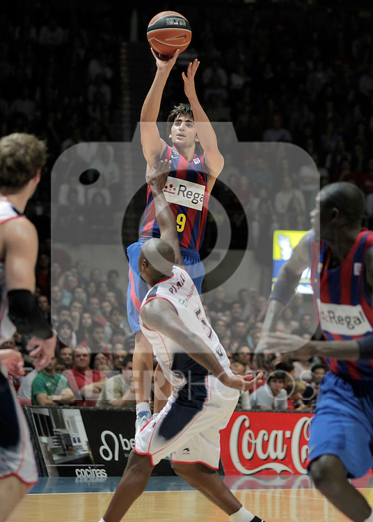 FC Barcelona's Ricky Rubio during ACB Finals match. June 15,2010. (ALTERPHOTOS/Acero)