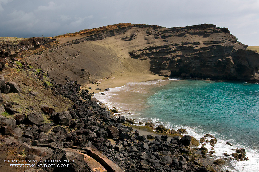 The Green Sands Beach is one of the finest on the Big Island.