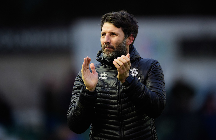 Lincoln City manager Danny Cowley<br /> <br /> Photographer Chris Vaughan/CameraSport<br /> <br /> The EFL Sky Bet League Two - Saturday 15th December 2018 - Lincoln City v Morecambe - Sincil Bank - Lincoln<br /> <br /> World Copyright © 2018 CameraSport. All rights reserved. 43 Linden Ave. Countesthorpe. Leicester. England. LE8 5PG - Tel: +44 (0) 116 277 4147 - admin@camerasport.com - www.camerasport.com
