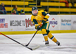 8 February 2020: University of Vermont Catamount Forward Olivia Kilberg, a Junior from Edina, MN, in second period action against the University of Connecticut Huskies at Gutterson Fieldhouse in Burlington, Vermont. The Huskies defeated the Lady Cats 4-2 in the first game of their weekend Hockey East series. Mandatory Credit: Ed Wolfstein Photo *** RAW (NEF) Image File Available ***