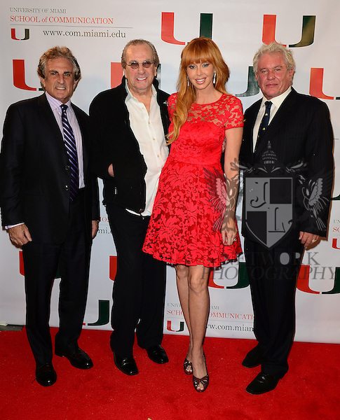CORAL GABLES, FL - NOVEMBER 20: John Herzfeld, Danny Aiello, Rebekah Chaney and Tom Berenger attend the premiere screening Of 'Reach Me' Hosted by University Of Miami inside the BankUnited Center Fieldhouse at University of Miami on Thursday November 20, 2014 in Coral Gables, Florida. (Photo by Johnny Louis/jlnphotography.com)