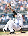 Masahiro Tanaka (Yankees), JULY 23, 2015 - MLB : New York Yankees starting pitcher Masahiro Tanaka catches the ball in the sixth inning during a baseball game against the Baltimore Orioles at Yankee Stadium in New York, United States. (Photo by AFLO)