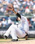 Masahiro Tanaka (Yankees), JULY 23, 2015 - MLB : New York Yankees starting pitcher Masahiro Tanaka catches the ball in the sixth inning during a baseball game against the Baltimore Orioles at Yankee Stadium in New York, United States. (Photo by AFLO)