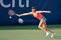 Washington, DC - August 3, 2019: Maria Sanchez (USA) can reach the ball for the save during the WTA Woman's Doubles Championship at Rock Creek Tennis Center, in Washington D.C. (Photo by Philip Peters/Media Images International)