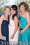 Pictured at the Nurses Ball in the Carlton Hotel, Tralee on Thursday evening, from left: Lauren Crowley, Caroline Kelly and Denise McCarthy..