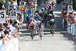 Arnaud Demare (FRA) Groupama-FDJ and Sasha Modolo (ITA) EF Education First sprint for victory at the end of Stage 4 of the Route d'Occitanie 2019, running 154.8km from Gers - Astarac Arros en Gascogne to Clermont-Pouyguillès, France. 23rd June 2019<br /> Picture: Colin Flockton | Cyclefile<br /> All photos usage must carry mandatory copyright credit (© Cyclefile | Colin Flockton)