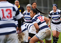Onjeurlina Leiataua in action during the Farah Palmer Cup women's provincial rugby match between Wellington Pride  and Auckland at Jerry Collins Stadium / Porirua Park, Wellington, New Zealand on Saturday, 23 September 2017. Photo: Dave Lintott / lintottphoto.co.nz