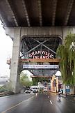 CANADA, Vancouver, British Columbia, entering Granville island under the Granville street bridge