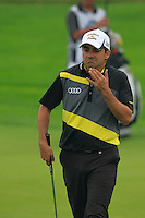 Felipe Aguilar (CHI) on the 1st green during Thursday's Round 1 of the 2014 BMW Masters held at Lake Malaren, Shanghai, China 30th October 2014.<br /> Picture: Eoin Clarke www.golffile.ie