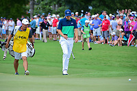 Jordan Spieth (USA) approaches the 4th green during Friday's round 2 of the PGA Championship at the Quail Hollow Club in Charlotte, North Carolina. 8/11/2017.<br /> Picture: Golffile | Ken Murray<br /> <br /> <br /> All photo usage must carry mandatory copyright credit (&copy; Golffile | Ken Murray)