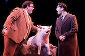 "LONDON - ENGLAND Musical comedy Betty Blue Eyes, based on the feature film ""A Private Function"" showing at the Novello Theatre. Reece Shearsmith, Jack Edwards and an animatronic pig"