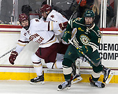 Christopher Brown (BC - 10), David Cotton (BC - 17), Derek Lodermeier (UVM - 16) - The Boston College Eagles defeated the University of Vermont Catamounts 7-4 on Saturday, March 11, 2017, at Kelley Rink to sweep their Hockey East quarterfinal series.The Boston College Eagles defeated the University of Vermont Catamounts 7-4 on Saturday, March 11, 2017, at Kelley Rink to sweep their Hockey East quarterfinal series.