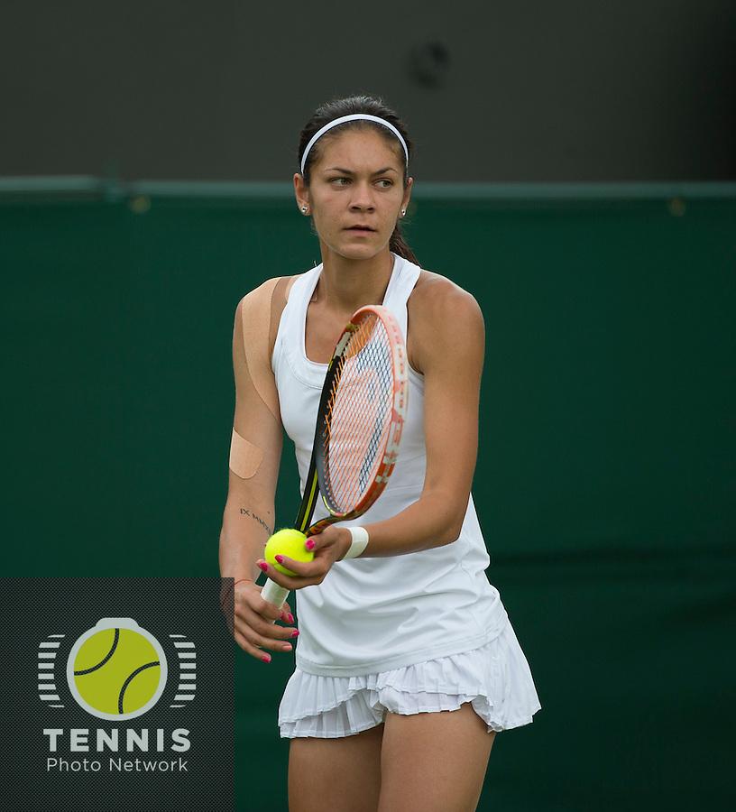 ANDREEA MITU (ROM)<br /> <br /> The Championships Wimbledon 2014 - The All England Lawn Tennis Club -  London - UK -  ATP - ITF - WTA-2014  - Grand Slam - Great Britain -  24th June 2014. <br /> <br /> © Tennis Photo Network