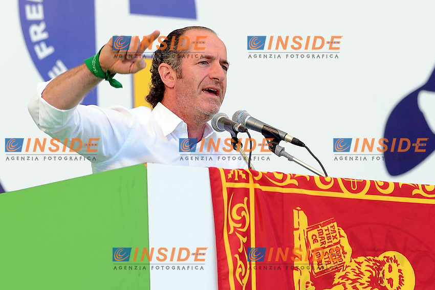 Luca Zaia <br /> Pontida (Bg) 04/05/2014 <br /> raduno Lega Nord a Pontida - Lega Nord party Rally<br /> foto Andrea Ninni/Image/Insidefoto