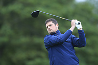 TJ Ford (Co.Sligo) on the 1st tee during the Final of the Barton Shield in the AIG Cups & Shields Connacht Finals 2019 in Westport Golf Club, Westport, Co. Mayo on Saturday 10th August 2019.<br /> <br /> Picture:  Thos Caffrey / www.golffile.ie<br /> <br /> All photos usage must carry mandatory copyright credit (© Golffile | Thos Caffrey)