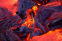 lava Hawaii, USA Volcanoes National Park, Big Island of Hawaii, USA, Pacific Ocean