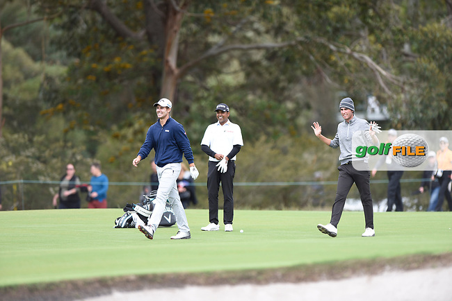 Andrea Pavan (ITA) and Renato Paratore (ITA) during the 3rd round of the World Cup of Golf, The Metropolitan Golf Club, The Metropolitan Golf Club, Victoria, Australia. 24/11/2018<br /> Picture: Golffile | Anthony Powter<br /> <br /> <br /> All photo usage must carry mandatory copyright credit (© Golffile | Anthony Powter)