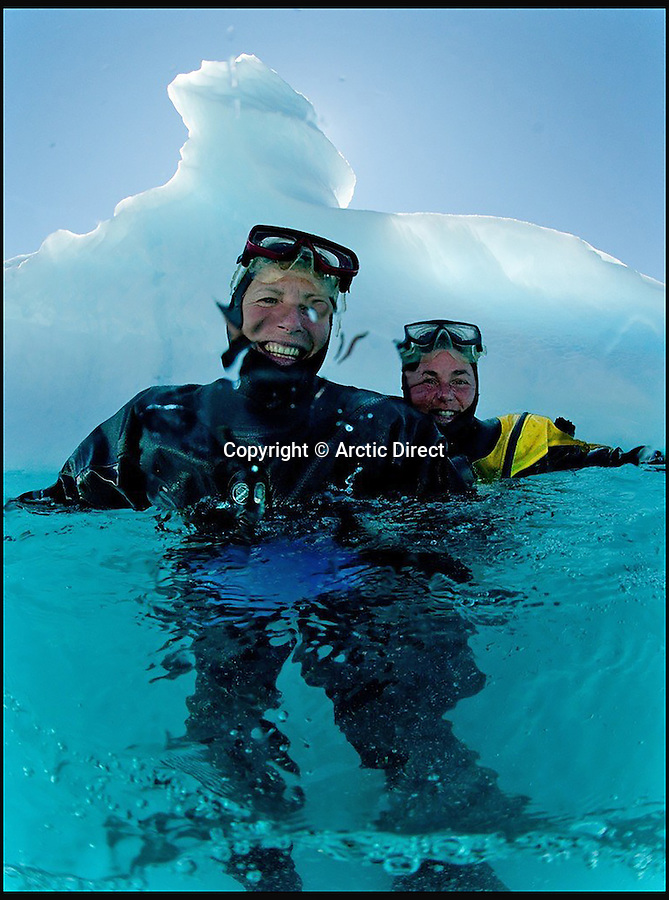 BNPS.co.uk (01202 558833)<br /> Pic: ArcticDirect/BNPS<br /> <br /> A British travel company is offering diving fans the opportunity to dive under Greenland's spectacular icebergs.<br /> <br /> Arctic Direct, based in Wiltshire, is the only travel operator in the world offering an exclusive package of six days and nights diving from the remote ice-covered island.<br /> <br /> The company's managing director Charlotte Marshall-Reynolds says their unique package will offer diving enthusiasts the chance to experience unspoilt landscapes and incredible icebergs they won't see elsewhere.<br /> <br /> The trip, which is available from next year, costs £4,795 per person and includes flights, transfers, accommodation and diving guided by an Arctic commercial diver.