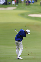 Ashley Chesters (ENG) plays his 2nd shot on the 18th hole during Saturday's storm delayed Round 2 of the Andalucia Valderrama Masters 2018 hosted by the Sergio Foundation, held at Real Golf de Valderrama, Sotogrande, San Roque, Spain. 20th October 2018.<br /> Picture: Eoin Clarke | Golffile<br /> <br /> <br /> All photos usage must carry mandatory copyright credit (&copy; Golffile | Eoin Clarke)