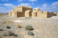 Ruins of Qasr Amra, an 8th century Muslim castle in the desert, Jordan.