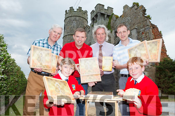 Óisín O'Regan and Dara Donnelly from Bouleenshire National School pictured at the front with their new boardgame Dragon's Reign. Pictured back l-r were: Patsy O'Connor, Cathal O'Regan, Terence Dineen (Principal) and Pat Clifford (teacher).