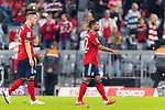 06.10.2018, Allianz Arena, Muenchen, GER, 1.FBL,  FC Bayern Muenchen vs. Borussia Moenchengladbach, DFL regulations prohibit any use of photographs as image sequences and/or quasi-video, im Bild enttaeuscht Niklas Suele (FCB #4) und Serge Gnabry (FCB #22) <br /> <br />  Foto &copy; nordphoto / Straubmeier