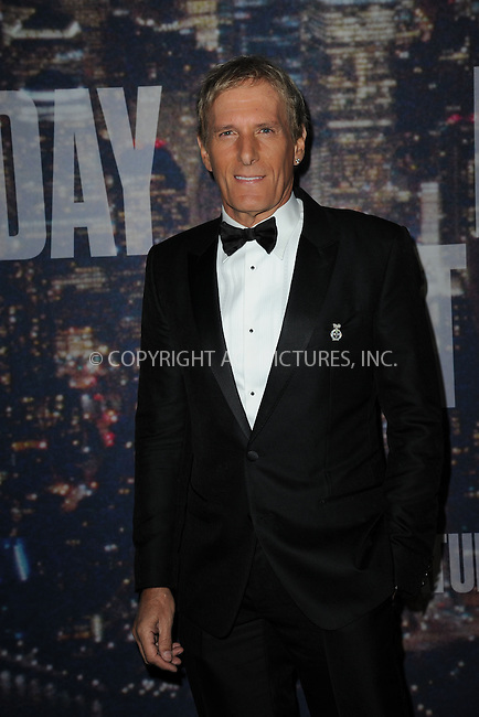 WWW.ACEPIXS.COM<br /> February 15, 2015 New York City<br /> <br /> Michael Bolton walking the red carpet at the SNL 40th Anniversary Special at 30 Rockefeller Plaza on February 15, 2015 in New York City.<br /> <br /> Please byline: Kristin Callahan/AcePictures<br /> <br /> ACEPIXS.COM<br /> <br /> Tel: (646) 769 0430<br /> e-mail: info@acepixs.com<br /> web: http://www.acepixs.com
