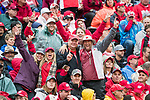 Wisconsin Badgers fans cheer during an NCAA College Big Ten Conference football game against the Purdue Boilermakers Saturday, October 14, 2017, in Madison, Wis. The Badgers won 17-9. (Photo by David Stluka)