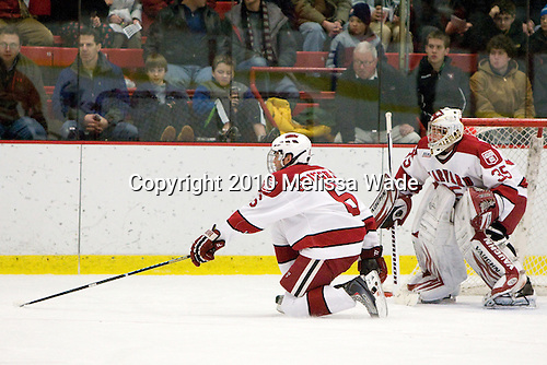 Ryan Grimshaw (Harvard - 6), Ryan Carroll (Harvard - 35) - The Princeton University Tigers defeated the Harvard University Crimson 2-1 on Friday, January 29, 2010, at Bright Hockey Center in Cambridge, Massachusetts.