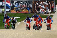 ASSEN - Wielersport, NK BMX, Stadsbroek,  02-07-2017,  Elite heren Niek Kimmann (l)  en Dave van der Burg nemen de leiding na de start