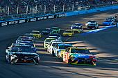 #18: Kyle Busch, Joe Gibbs Racing, Toyota Camry M&M's and #20: Erik Jones, Joe Gibbs Racing, Toyota Camry Sirius XM