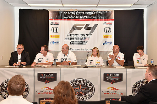 17 September 2015, Austin, Texas USA<br /> L to R, Stefano Domenicali, Marc Sours, Robert Clarke, Kathryn Crawford, Bobby Rahal, Katherine Legge <br /> ©2015, Scott R LePage <br /> LAT Photo USA